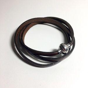 🆕 Listing!  Boutique | Leather Wrap Bracelet